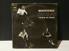 CHICAGO Beginnings / colour my world CBS 7348 ESPAGNE
