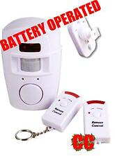Battery operated house alarm motion sensor shed garage / motor home NO WIRES !!