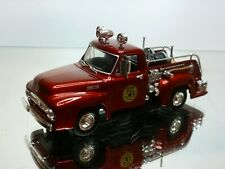 MATCHBOX 1953 FORD F-100 FIRE TRUCK - METALLIC RED 1:43 - VERY GOOD CONDITION