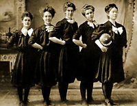 "1909 Scholastic Champions Girls Basketball Team, MN Old Photo 8.5"" x 11"" Reprint"