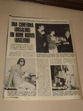 RON ROSALINO CELLAMARE CLAUDIO BAGLIONI clipping articolo foto photo 1970