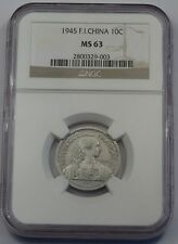 1945-French Indo China - 10 centiemes-NGC ms63
