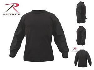 Rothco 90010 Black Military Combat Shirt Heat Resistant Long Sleeve - M,L,XL,XXL