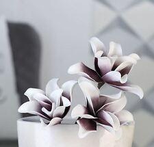 Casablanca Kunstblume Foam Flower Schaumstoff 38058 Weiß/beere 3 Blüten 43cm