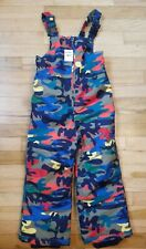 NWT HANNA ANDERSSON SNOWBOARD SKI WATERPROOF SNOW OVERALLS BIBS BLUE CAMO 110 5