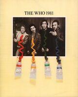 THE WHO 1981 FACE DANCES TOUR CONCERT PROGRAM BOOK / ROGER DALTREY / NMT 2 MINT