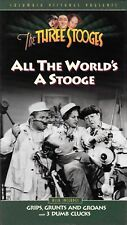 The Three Stooges - All The Worlds A Stooge - 1993 Columbia Home Video VHS Tape