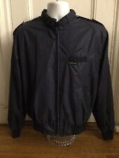 Euc Vintage Members Only Jacket Size 42 Large Navy Blue Lightweight Bomber Cafe