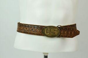 Vintage Belt Leather US Buckle Size 36