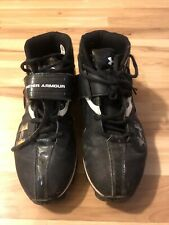 Under Armour Sports Shoes Cleats Size Men Size 10.5, Black With White