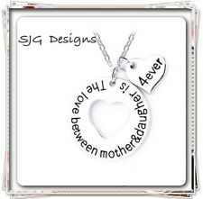 """"""" THE LOVE BETWEEN MOTHER AND DAUGTER IS 4EVER"""" Pendant Link Chain"""
