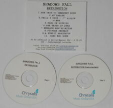 Shadows Fall - Retribution + instrumentals -  U.S. promo 2 cd  -Rare!