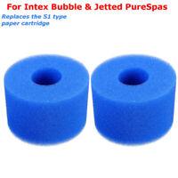 For Intex Pure Spa Reusable/Washable Filter Sponge Foam Cartridge (S1) Type New