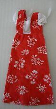 Skipper Long Red Peasant Dress #7218 Vintage Barbie 1975