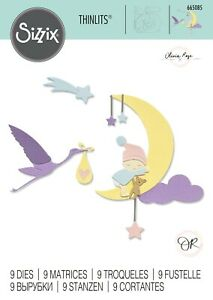 SIZZIX® THINLITS DIE - LUNAR BABY by OLIVIA ROSE™ RRP £10.00 NOW £8.99
