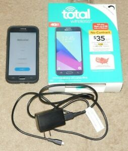 TOTAL WIRELESS SAMSUNG GALAXY J3 LUNA PRO SMARTPHONE w/EXTRAS (Tested - Works)