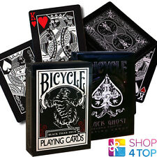 2 DECKS BICYCLE ELLUSIONIST 1 BLACK GHOST 2ND AND 1 BLACK TIGER PLAYING CARDS
