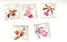 DDR - East Germany - Set of 5 - Orchids - CTO? used