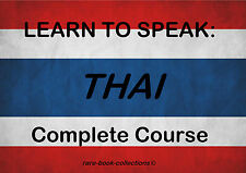 LEARN TO SPEAK THAI - LANGUAGE COURSE - 22 HRS AUDIO MP3 & 3 BOOKS ALL ON DVD!