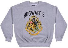 Harry Potter Crewneck Sweater Hog Warts Gray Pullover Mens Fleece Authentic XL