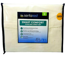 Serta Rest Smart Comfort COOLING Sheet 4 Pc Set QUEEN Size Ivory