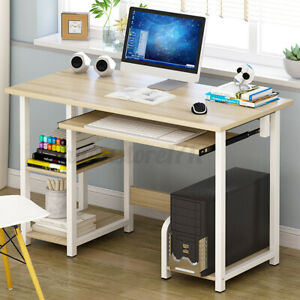 Home Office Workstation Computer Desk Student Study Table Corner Shelf Storage