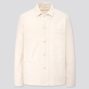 NWT Uniqlo Men's Washed Jersey Work Jacket (White), XS SKU 425079