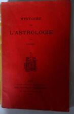 livre Histoire de l'Astrologie par Vanki (1905) edition Chacornac
