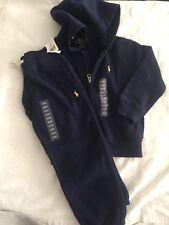 Polo Ralph Lauren Baby Boy 3/3T Zip Up Hoodie & Sweatpant Set Navy Blue Set NWT