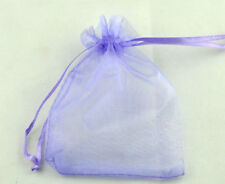 100 pcs 7x9cm Sachets Sacs Pochettes Cadeau Organza Violet Mariage Fête
