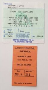 Liverpool v Norwich 1977-78 Ticket