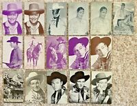 Lot of 16 Arcade Cards Western Cowboy Lone Ranger Gary Cooper Roy Rogers~131452