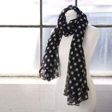 Sciarpe , foulard e scialli da donna neri pois