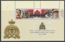 Canada #1737b 46¢ RCMP 125th Anniversary Souvenir Sheet MNH