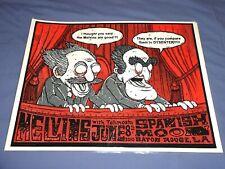 Melvins Gig Poster 19x25 Totimoshi Spanish Moon Baton Rouge 2010 Statler Waldorf