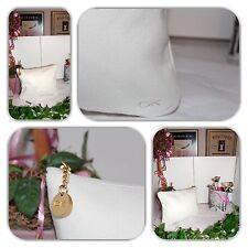 UNIQUE DONNA KARAN (DKNY) WHITE COSMETIC POUCH/CLUTCH/HANDBAG!