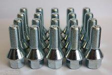 20 X M12 X 1.5 27MM THREAD ZINC 60 DEGREE TAPERED ALLOY WHEEL BOLTS LUG NUTS