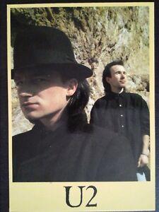 Postcard U2 Group of Irish Rock Featuring The