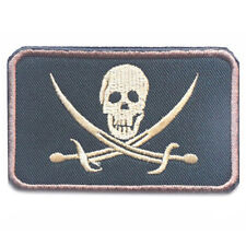 USMC INFIDEL JOLLY ROGER FLAG PIRATE SKULL WITH CROSS SWORDS USA PATCH