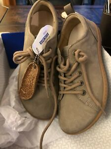 """BIRKENSTOCK """"ISLAY"""" NEW IN BOX Sneakers Lace Up Oxford Shoes TAUPE ~ SIZE EU36"""
