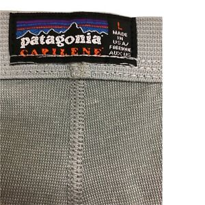 Patagonia Capilene Thermal Long Pants Base Layer Women's Large Gray Pre-Owned