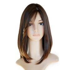 """16"""" Jewish Brazilian Human Hair 130% Density Mixed Color Silk Top Lace Front Wig"""