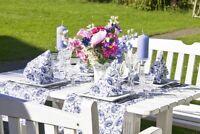 Tischläufer Liv in Blau aus Linclass® Airlaid 40 cm x 4,80 m, 1 Stück Tischtuch
