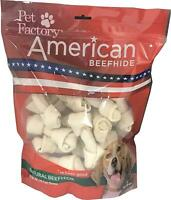 Pet Factory American Beefhide Chews 28211 Rawhide Natural Flavor 4-5  Bones for
