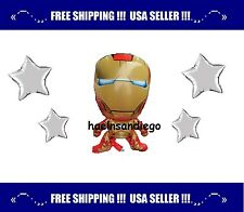 «´¨`•°.. 5 MARVEL IRON MAN Birthday Party Balloons.. Ships FREE from US! °•´¨`»