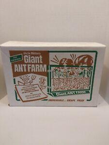 """VINTAGE THE ORIGINAL """"UNCLE MILTON'S"""" GIANT ANT FARM w/BOX ESCAPE PROOF NEW"""
