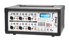 NEW PylePro PMX602M 6 Channel 600W Powered Mixer with AUX Input  USB & MP3 LCD
