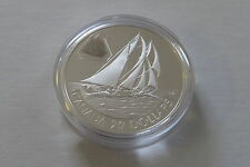 2000 PROOF SILVER HOLOGRAM $20 THE BLUENOSE SHIP SERIES WITH BOX & COA