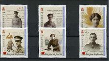 GUESS 2014 MNH storie dalla Grande Guerra WWI 6V Set prima guerra mondiale soldati