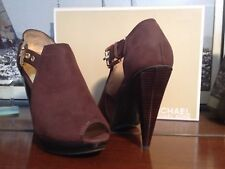 Michael Kors Greenwich Open Toe Ladies Pumps, US 6 1/2M, Waxy Suede - BRAND NEW